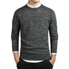Load image into Gallery viewer, O-neck Sweater Men Long Sleeve Pullovers Coat Solid Cotton Men Pullovers And Sweaters Knitted Casual Pull Homme M-3XL
