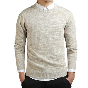 O-neck Sweater Men Long Sleeve Pullovers Coat Solid Cotton Men Pullovers And Sweaters Knitted Casual Pull Homme M-3XL