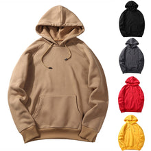 Load image into Gallery viewer, CYSINCOS EU Size Fashion Colorful Hoodies Men's Thicken Clothes Winter Sweatshirts Men Hip Hop Streetwear Solid Fleece Man Hoody