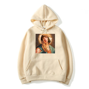 Men's Pulp Fiction Cotton Fleece Hoodies Sweatshirts 2019 Man Virgin Mary Mia Wallace Sweatshirts Hoodies Comics Hoodie