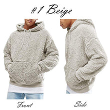 Load image into Gallery viewer, UK Men Fashion Warm Fluffy Hoodie Pullover Fleece Sweatshirt Casual Hooded Solid Coat Jumper Autumn Winter