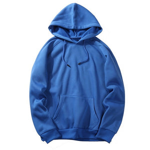 CYSINCOS EU Size Fashion Colorful Hoodies Men's Thicken Clothes Winter Sweatshirts Men Hip Hop Streetwear Solid Fleece Man Hoody