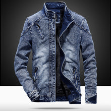 Load image into Gallery viewer, MJARTORIA Denim Jacket With for Men Autumn fashion Jeans Jacket Coat Male Slim Casual Hoodie Coat Men's Outwear Jacket And Coats