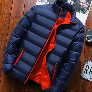 2019 Men Casual Hooded Parka  Printed Winter Men Fashion Patchwork Cotton Slim Fit Coat Thick Warm Homme's Zipper Jacket