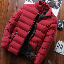 Load image into Gallery viewer, 2019 Men Casual Hooded Parka  Printed Winter Men Fashion Patchwork Cotton Slim Fit Coat Thick Warm Homme's Zipper Jacket