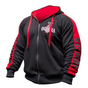 OLYMPIA Men Gyms Hoodies Gyms Fitness Bodybuilding Sweatshirt Pullover Sportswear Male Workout Hooded Jacket Clothing