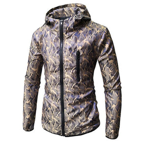 Hoodies Men Long Sleeve Camouflage Color Hooded Sweatshirt Male Hoodie Casual Loose Zipper Sweatshirt Warm Outwear