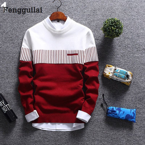 New Korean Fashion Cardigan Sweater Jumper Men Knit Pullover Coat Long Sleeve Sweater