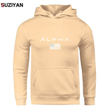 Load image into Gallery viewer, Pullover Print Alpha Hoodies Men Autumn Fashion Brand Cotton Long Sleeve Fleece Warm Sweatshirt Men's Tracksuits Sportswear
