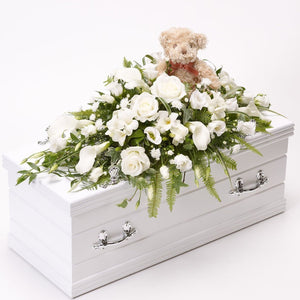 Children's Casket Spray (White)