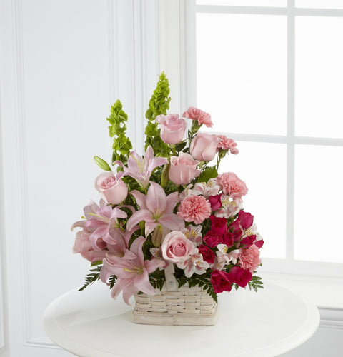 Basket Arrangement (Pink & Red)