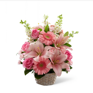 Basket Arrangement (Pink)