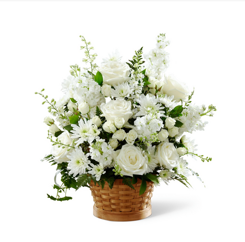Basket Arrangement (White)