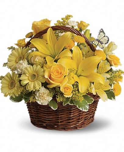 Basket Arrangement (Yellow & Orange)