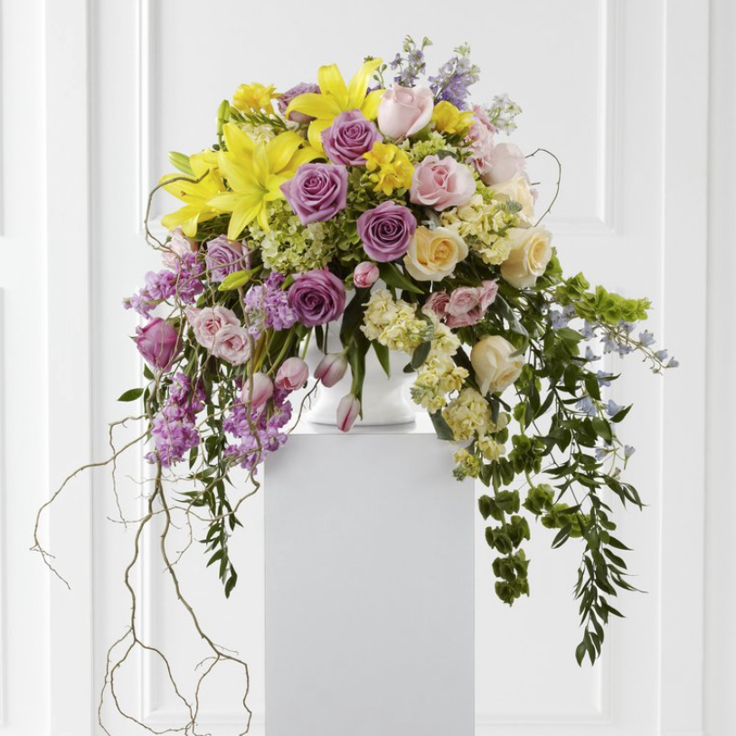 Arrangement (Purple & Yellow)