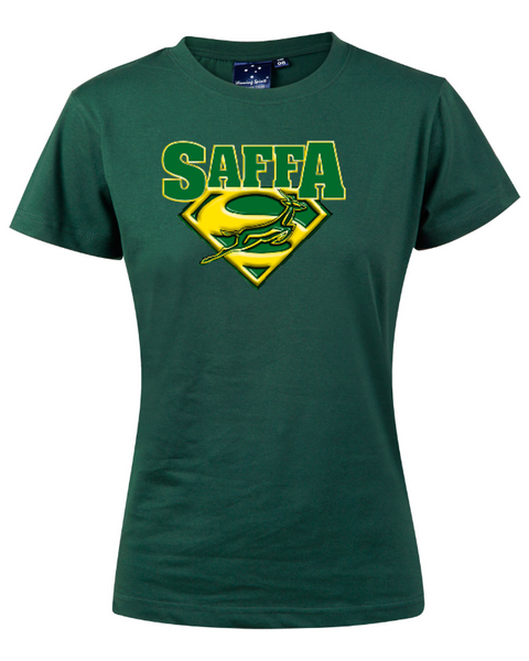 Ladies green tee - personalisable