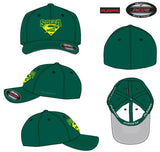 FlexFit Cap - Spruce green with embroidered superbok emblem