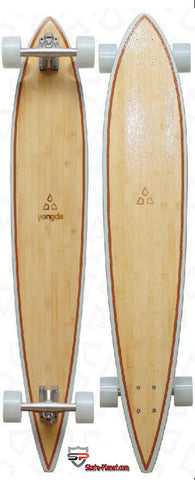 "Longboard 42"" x 9"" USA Hardrock Maple / Bamboo - Skate Planet Thailand"