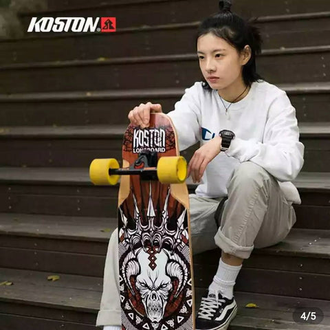KOSTON Freeride Style Longboard complete  9ply Canadian Maple - Skate Planet Thailand