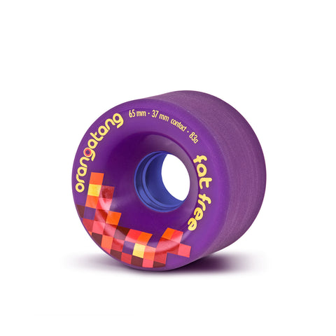 Orangatang Fat Free, 65mm 83a purple - Skate Planet Thailand