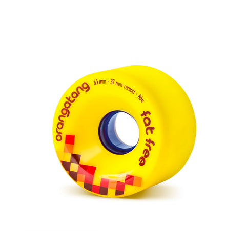 Orangatang Fat Free, 65mm 86a yellow