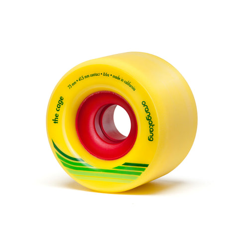 Orangatang The Cage  73mm yellow 86a - Skate Planet Thailand