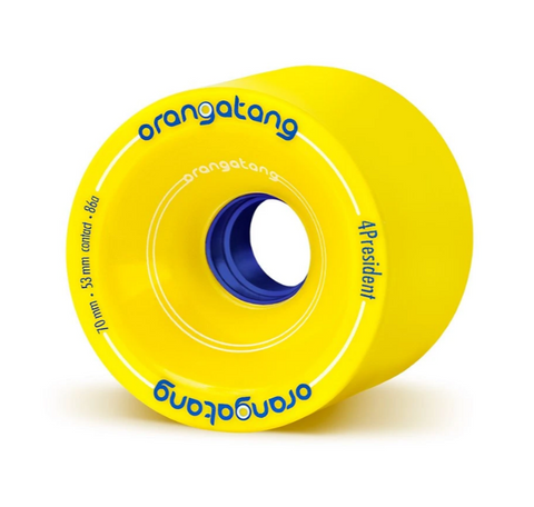 Orangatang 4President, 70mm 86a yellow