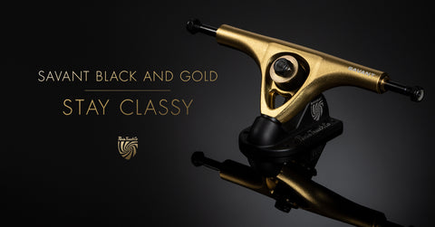 Paris Trucks Savant 180mm 43 degree Longboard-Trucks Black Gold - Skate Planet Thailand