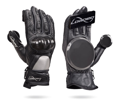 """Loaded"" Leather Race Gloves - Skate Planet Thailand"