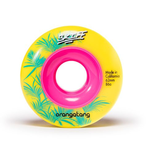 Orangatang Skiff, 62mm 86a yellow - Skate Planet Thailand