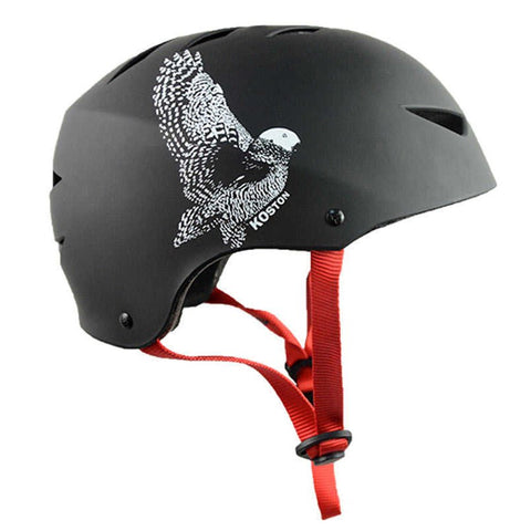 Koston Pro Skateboard Helmet- Black / Eagle - Skate Planet Thailand