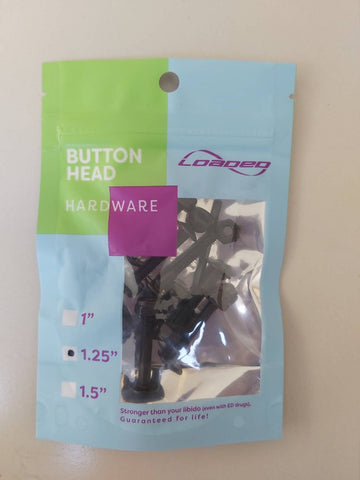 "Loaded Button Head Hardware 1.25"" inch - Skate Planet Thailand"