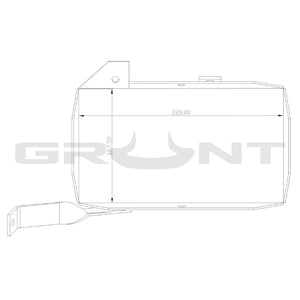 Dual battery tray Nissan Patrol GU TB45E 4.5 TB48DE 4.8 (vehicles with ABS)