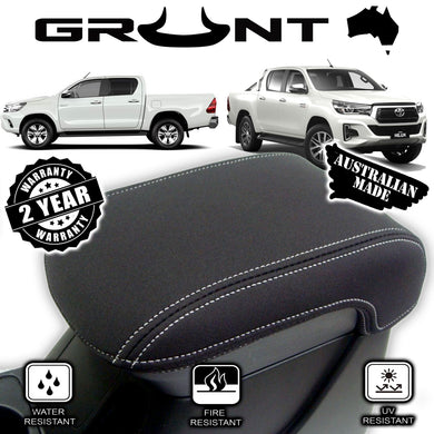 Toyota Hilux SR SR5 neoprene centre console lid cover wetsuit material 2015-2019