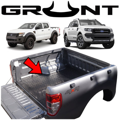 Heavy duty rubber checker plate ute tray mat Ford Ranger PX 2011-2019 (suits vehicles without tub liner)