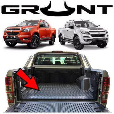 Heavy duty rubber checker plate ute tray mat Holden Colorado RG 2018-2019 (suits vehicles with tub liner)