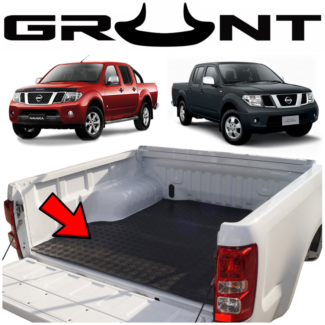 Heavy duty rubber checker plate ute tray mat Nissan Navara D40 (suits vehicles without tub liner)
