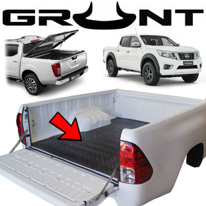 Heavy duty rubber checker plate ute tray mat Nissan Navara NP300 (suits vehicles without tub liner)