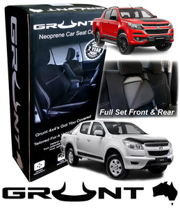 Holden Colorado RG neoprene car seat covers 2012-2019 Optional Front, Rear, Front & Rear (Suits also DMAX)