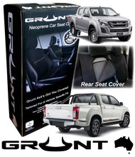 Load image into Gallery viewer, Isuzu D-Max neoprene car seat covers 2012-2019 Optional Front, Rear, Front & Rear