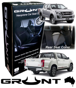 Isuzu D-Max neoprene car seat covers 2012-2019 Optional Front, Rear, Front & Rear