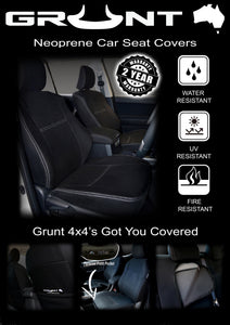 Toyota Hilux neoprene car seat covers 2015-2019 Optional Front, Rear, Front & Rear