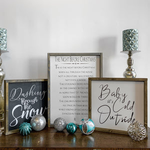 seasonal wood signs home decor words sayings Calgary Canada Christmas