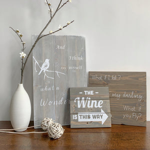 rustic wood signs words sayings home decor
