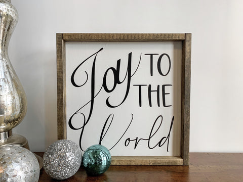 joy to the world - wood sign