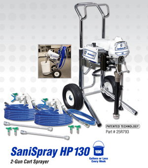 SaniSpray HP 130 2-Gun Cart Sprayer
