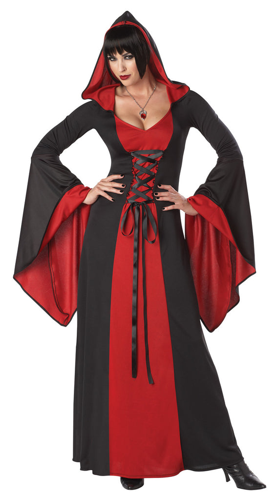 Hooded Robe Blk/Red