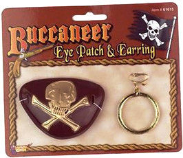 Buccaneer Eye Patch and Earrings