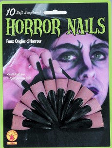 Rubber Horror Nails Black