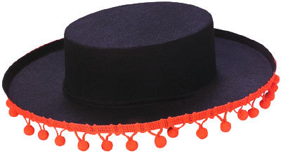 Spanish Hat with Poms